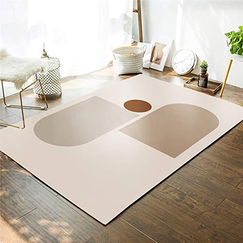 V-Parasoll Geometrie Abstrakt Morandi Teppich Für Kinder Schlafzimmer Home Decor Waschbar Bereich Teppich,Indoor Moderner Abstrakt Bereich Teppich-E 60x90cm(23.6x35.4inch)