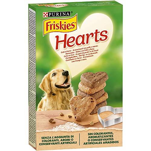 Purina Friskies Hearts Biscotti per Cane Aromatizzati con Pollo e Manzo, 6 Scatole da 320 g Ciascuna