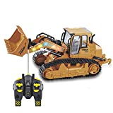 AIOJY 5 canales Rastro remoto Escalada Carga de automóviles Sandy Land Excavadora Modelo Infantil Pista de construcción Vehículo Máquina de gancho de juguete Bulldozer Inalámbrico Simulación eléctrica