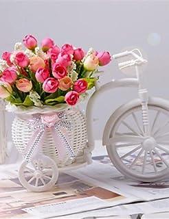 anemoni in una pentola statuina in vaso o cesto sospeso molti capi bouquet by Homestreet/® REDORANGE Composizione di fiori artificiali