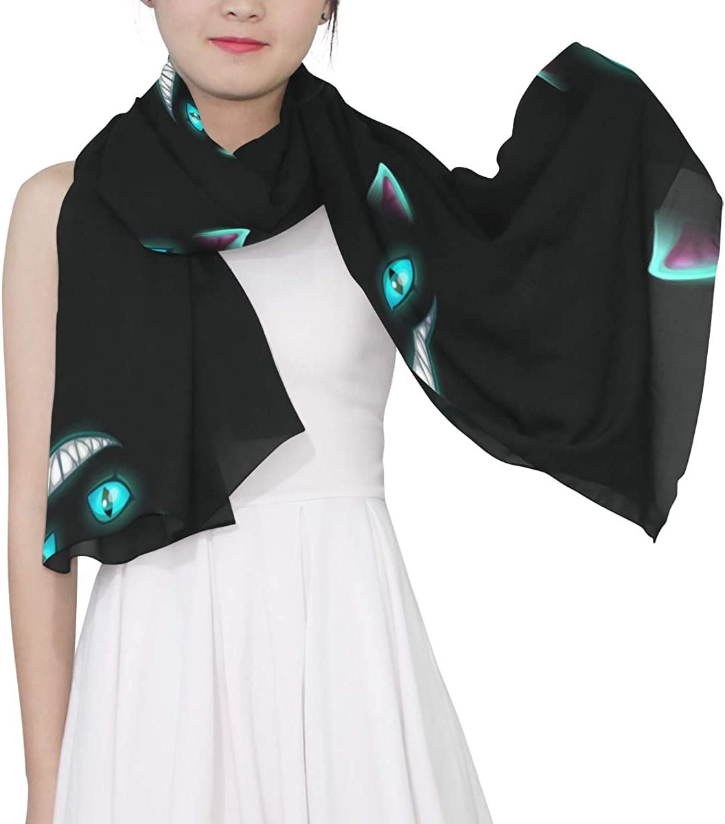 Delicate Cat Eyes Unique Fashion Scarf For Women Lightweight Fashion Fall Winter Print Scarves Shawl Wraps Gifts For Early Spring