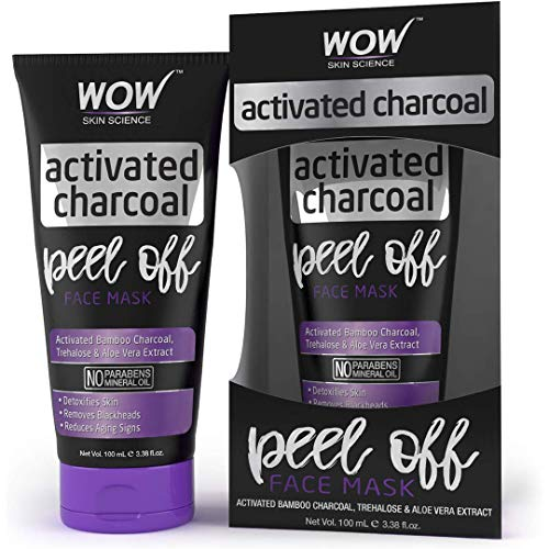 WOW Skin Science Activated Charcoal Face Mask - Peel Off - No Parabens & Mineral Oils, 100 ml