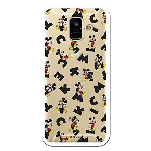 Carcasa Oficial de Disney Mickey Letras Clear para Samsung Galaxy A6 2018 - La Casa de Las Carcasas