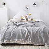 Decke 100prozent Baumwolle Waffel Musselin Sommer Tagesdecken Quilt Lace Decken für Betten Weiche warme Karierte Bettdecke 200X230Cm 01