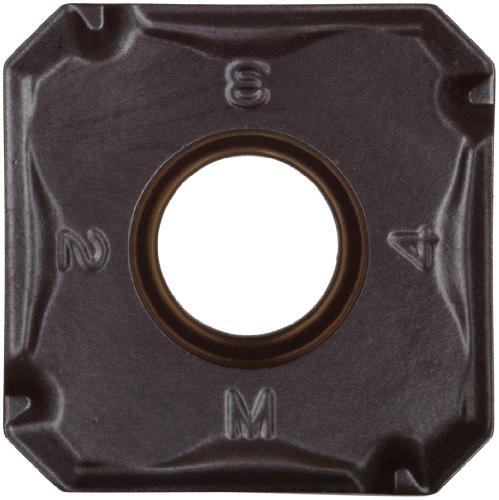 "Sandvik Coromant COROMILL Carbide Milling Insert, 345R Style, Square, GC4240 Grade, Multi-Layer Coating, 345R1305MPH,0.22"" Thick, 0.032"" Corner Radius (Pack of 10)"