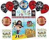 Set Deko Geburtstag Piraten Kindergeburtstag Dekoration Set