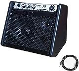 Coolmusic 20W Bluetooth Amplificador de Monitor Personal Amplificador de Tambor eléctrico Altavoz, Teclado y Altavoz de Guitarra acústica