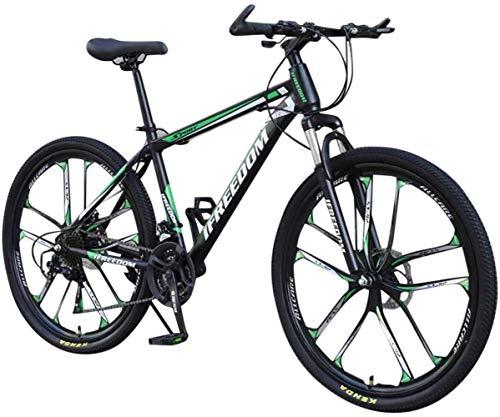 DALUXE Dirt Bike VTT Vélo De Course Hommes Vélo 21 Vélo VTT Filles Vitesses Pouces Étudiant 26 Extérieur,Vert