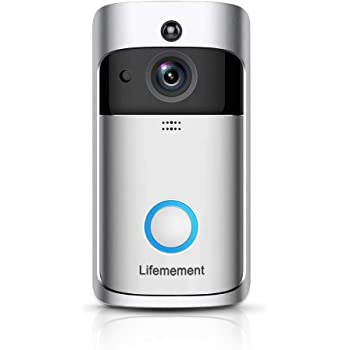 Wireless Doorbell WiFi Smart Video Doorbell 720P HD Smart Security Camera Doorbell with Realtime Push Alerts Watchdog Surveillance System Night Vision