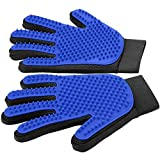 Pet Grooming Gloves - Gentle Deshedding Brush - Efficient Pet Hair Remover Mitt