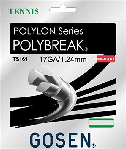 Gosen Polybreak - Corde da tennis, 17 g, 1,25 mm, colore: Bianco