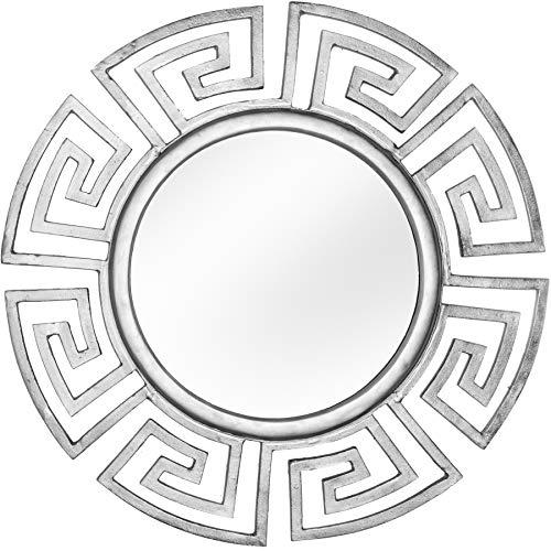 Riess Ambiente Glamouröser Design Spiegel Euphoria 85cm Silber Wandspiegel Flurspiegel Badspiegel