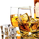 Plastic Ice Cubes, Fake Ice Cubes with 16Pcs Clear Acrylic Square Shape Reusable Ice Cubes for Home Display Decor Photography Props Whisky Drinks Vase Fillers Festive Party Supplies