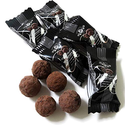 黒トリュフチョコレート 1袋 5粒入x5 赤いリボン付き (常温)