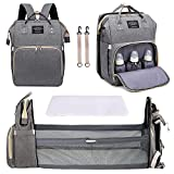 3 in 1 Diaper Bag Backpack with Changing Station, Diaper Bag for Baby Boys Girls...