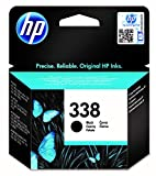 HP 338 C8765EE, Negro, Cartucho Original, de 480 páginas, para impresoras HP DeskJet serie 6500, 5700; Photosmart serie 3100, 2700, 8700 y OfficeJet serie 7400, 7200