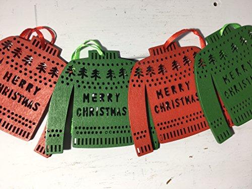 Pull de Noël Décorations Rouge/vert – Lot de 4