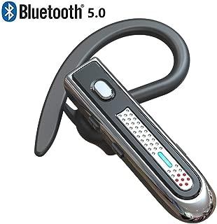 Bluetoothヘッドセット5.0高音質片耳 大容量バッテリー長持ちBluetoothイヤホン マイク内蔵 ハンズフリー通話 イヤフックが伸縮でき 日本技適マーク取得完成【黒い】