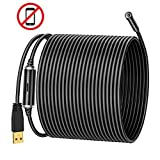 NIDAGE 5.0MP USB Endoscope, 50FT Inspection Camera, IP67 Waterproof Borescope with Semi-Rigid Cable and 6 Adjustable LEDs, Snake Camera for Pipe Sewer Drain Automotive Inspection