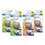 Febreze Car Air Freshener Vent Clips, 2 Gain Original and 2 Gain Island Fresh Scents, Odor Eliminator, 4 Count