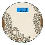 Escala digital de peso corporal de precisión Ronda Alheña Báscula de baño de...