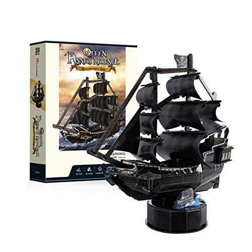 1yess -3D Schiff Puzzles Piratenschiff Assembly Modell 100 stücke von DIY montiert spielwaren Puzzle Zaubereinsatz Kinderspielzeug für Dekoration und Geschenke