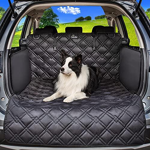Meadowlark® Kofferraumschutz für Hunde - Wasserdicht! Kofferraum Hundedecke für Auto, Kombi, Van & SUV, Kofferraumdecke für den Hund mit Seitenschutz und Stosstangenschutz, extra stark gepolstert!