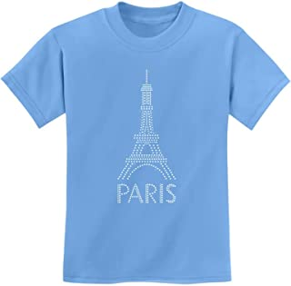 Eiffel Tower Paris Bastille Day French Patriot Gift Youth Kids T-Shirt