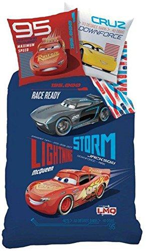 Disney Cars 044988 Generation Bettwäsche-Set, Baumwolle, blau, 140 x 200 cm