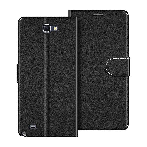 COODIO Funda Samsung Galaxy Note 2 con Tapa, Funda Movil Samsung Note 2, Funda Libro Galaxy Note 2 Carcasa Magnético Funda para Samsung Galaxy Note 2, Negro