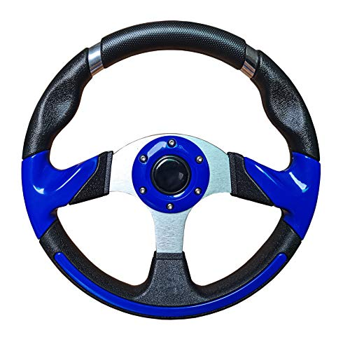 Dr.Acces Golf Cart Steering Wheel for Most Golf carts use on EZGO Club Car Yamaha Steering Wheel-Blue