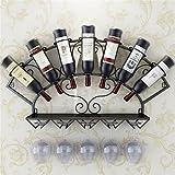 Zfggd Rack de Vino montado en la Pared Rack de Vino Rack de Vidrio de Vino Rack Upside Down
