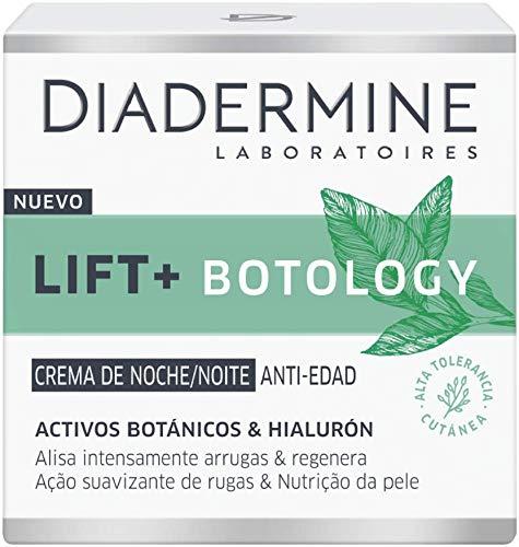 Diadermine Lift+ Botology Crema de Noche, Reduce Arrugas en 4 Semanas, Piel Más Joven y Rellenada, Negro, 50 Gramos