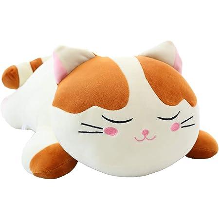 Stuffed Animal Pillow Cute Cat Plush Toys Stuffed Plush Doll Gifts for Kids Girls A