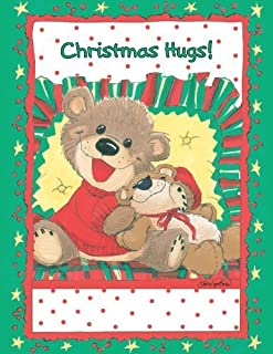 Suzy's Note Card Collection Stationery, Willie Bear Christmas Hug - 10895 by Flickback Media, Inc.