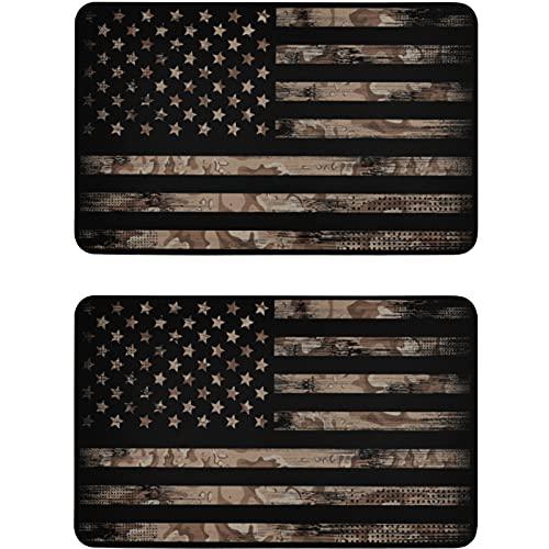 Vnurnrn Imán de lavaplatos americano vintage camuflaje placa magnética placa decorativa para cocina oficina plato arandela indicador 2 piezas