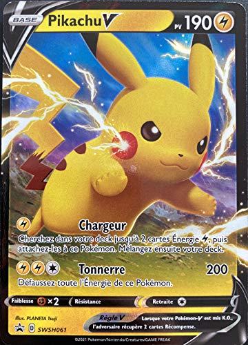 Carte Pokemon Pikachu SWSH061 Promo Ultra Rare V EB4.5 FR Neuf