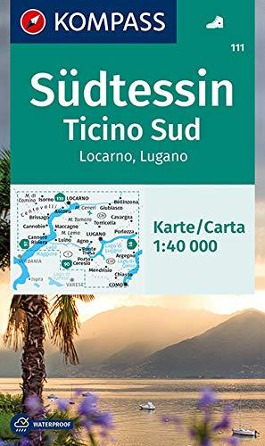 KOMPASS Wanderkarte Südtessin - Ticino Sud - Locarno - Lugano 1:40 000:...