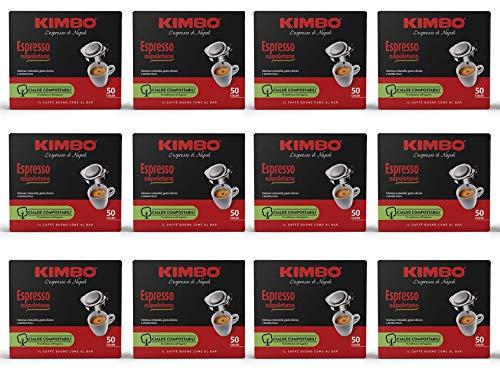 Kimbo Cialde Caffè Compostabili ESE 44mm Espresso Napoletano, 12 Pacchi da 50 Cialde (Totale 600 Cialde)