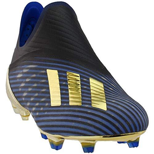 adidas X 19+ FG, (Núcleo negro / dorado Met. / Fútbol Azul), 40 EU