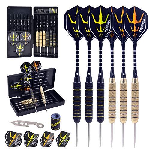 Naissgo Dart Set Professional Steel Tip Darts Set...
