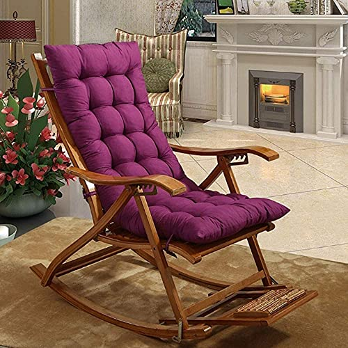 WEIZI Large Chair Cushion Soft Non-slip Jumbo Rocking Chair Cushion Seat Cushion Overcrowded Rocking Chair Set 18.9'x 47.2' x 1.97'Purple