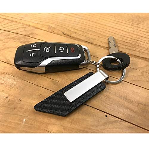iPick Image Mopar Logo Rectangular Brown Leather Key Chain Key-Ring for Dodge Challenger Charger SRT Jeep RAM