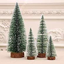 Mini Christmas Tree, Desktop Miniature Pine Tree, Small Pine Tree with Wooden Bases for Xmas Holiday Party Home Tabletop T...