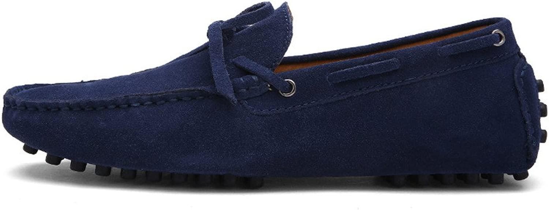 CHENDX Schuhe, Herren Rubber Rubber Studs Sohle Driving Penny Loafers Mode aus echtem Leder Stiefel Mokassins (Farbe   Marine, Größe   40 EU)  bis zu 42% Rabatt