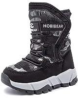 UBFEN Girls Snow Boots Kids Wi...