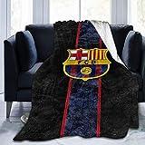 Manta de Tiro Personalizada Ultra Suave, FC-B FC Barcelona, acogedora Manta de Felpa para sofá, Dormitorio, Viaje, Manta de Micropolar