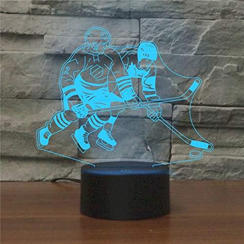 L-yxing Sonido Compruebe la versión táctil, Tocando la Forma de Hockey sobre Hielo LED de Color 3D Buena Apariencia