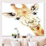 AdoraTapestry wandteppich wandtuch wandbehang Tapestry Tapisserie Wanddekoration Wandkunst wandtücher Giraffe 150x130cm