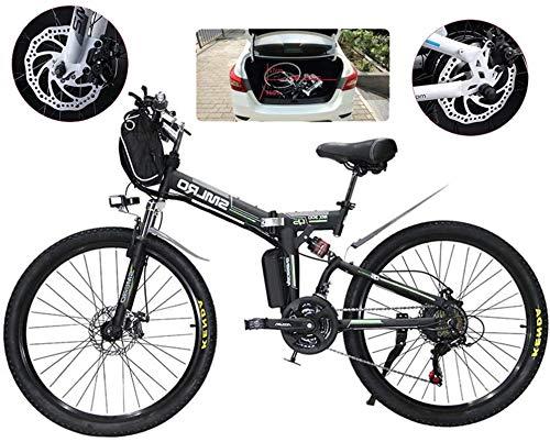 Bicicleta eléctrica, E-bici plegable de la montaña eléctrica, Bicicletas 500W nieve, 21 Velocidad 3 Modo de visualización LCD for adultos completa Suspensión 26' Ruedas Bicicleta eléctrica for la ciud